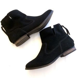 Steve Madden black suede Zinc short ankle booties